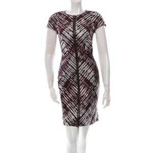 J Mendel cap sleeve printed dress